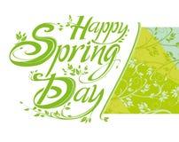 Happy Spring Day. royalty free illustration