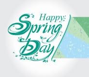 Happy Spring Day royalty free illustration