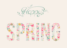 Happy Spring elements composition Royalty Free Stock Image
