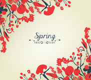Happy spring flower background vintage Stock Photo