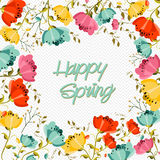 Happy Spring flower greeting card Stock Photography