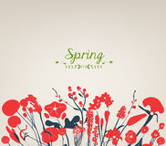 Happy spring flower vintage Stock Photography