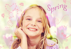Happy spring girl Stock Photo