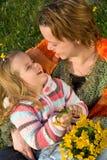 Happy spring girls stock image