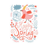 Happy Spring Stock Image