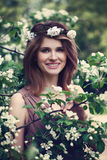 Happy Spring Model Girl Smiling Royalty Free Stock Photography