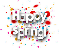 Happy spring paper background. Stock Photos
