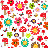 Happy spring pattern Stock Photography