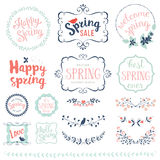 Happy Spring Set royalty free illustration