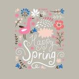 Happy Spring stock illustration