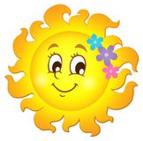 Happy spring sun theme image 1 royalty free illustration