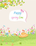 Happy in spring time Stock Photo