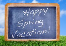Happy spring vacation Royalty Free Stock Photos