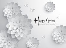 Happy Spring. Vector Paper Graphic of Blossom. Vector Paper Graphic of Blossom. Happy Spring. Welcome all the new beginnings royalty free illustration