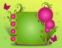 Happy Spring Web Template Royalty Free Stock Photography