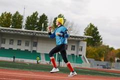 Happy sprinter Royalty Free Stock Image