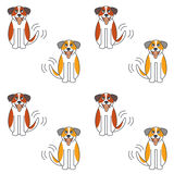 Happy St. Bernard dog seamless pattern. Stock Image