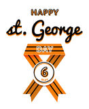 Happy St. George day greeting emblem Royalty Free Stock Photo