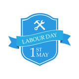 Happy 1st may - Labour day. Isolated on white background. Vector illustration. Eps 10 Royalty Free Illustration