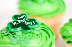 Happy St. Pat's Day Cupcake Stock Photography