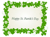 Happy St. Patrick card. Happy St. Patrick's day celebration card Royalty Free Stock Images