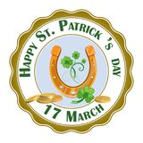 Happy St. Patrick Day design element. EPS 10 vector, grouped for easy editing royalty free illustration