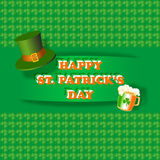 Happy St. Patrick Day greeting card. Vector illustration. Stock Photos