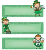 Happy St. Patrick horizontal banners Stock Photos