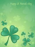Happy St. Patrick's day. Green background Royalty Free Stock Photos