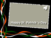 Happy St. Patrick s Day [2]. St. Patricks or Saint Patrick s Day background with Ireland flag pattern. Useful also for greeting cards stock illustration