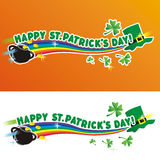 Happy St. Patrick's Day. Greeting and design elements Royalty Free Stock Image