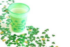 Happy St. Patrick's Day. A celebratory cup of beer for St. Patrick's Day Stock Image