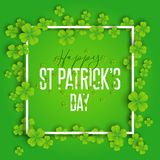 Happy St Patrick`s Day background. With shamrock vector illustration