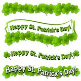 Happy St. Patrick's Day Banners Logos Stock Images
