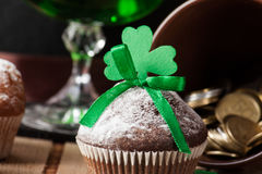 Happy St. Patrick`s Day cake Stock Images