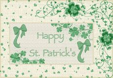 Happy st.patrick's day card Royalty Free Stock Images