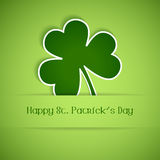 Happy St Patrick's Day card. Shamrock, clover design, perfect for St. Patrick's Day. EPS10 Stock Images
