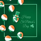 Happy st patrick`s day card with air balloons vector illustration