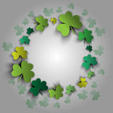 Happy St. Patrick's Day card. Lucky clovers. Vector illustration Royalty Free Stock Photos