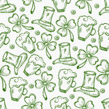Happy St. Patricks Day celebration background. Happy St. Patricks Day celebration background decorated with green ornaments Royalty Free Stock Photo