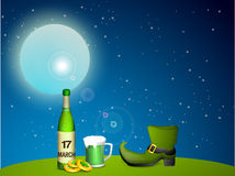 Happy St. Patricks Day celebration background. Royalty Free Stock Photography