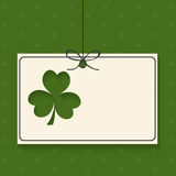 Happy St. Patricks Day celebration with blank card. Royalty Free Stock Photography
