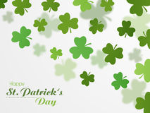 Happy St. Patrick's Day celebration with clover leaves. Stock Photography