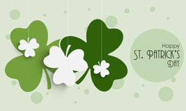 Happy St. Patricks Day celebration with clover leaves. Stock Photography