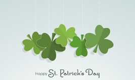 Happy St. Patricks Day celebration with clover leaves. Royalty Free Stock Photo