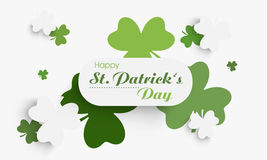 Happy St. Patrick's Day celebration with clover leaves. Royalty Free Stock Images