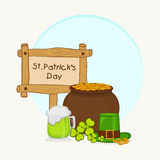 Happy St. Patricks Day celebration concept. Royalty Free Stock Photography