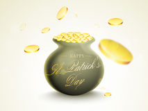 Happy St. Patricks Day celebration with earthenware. Royalty Free Stock Photo