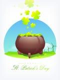 Happy St. Patricks Day celebration with earthenware. Stock Photos
