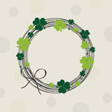 Happy St. Patrick's Day celebration with frame. Royalty Free Stock Photography
